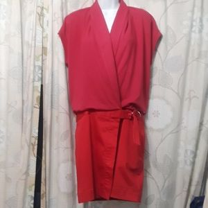 Lacoste Red wrap dress 36 Small